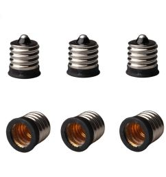 get quotations 6 pack e17 to e12 light socket bulb base adapter converter light socket adapter [ 1280 x 1280 Pixel ]