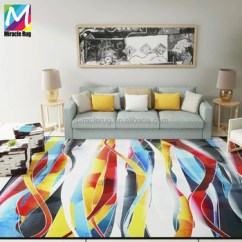 Rugs For Living Room In Home Goods Arm Chairs Modern Design Polyester Printed Carpet Washable Area