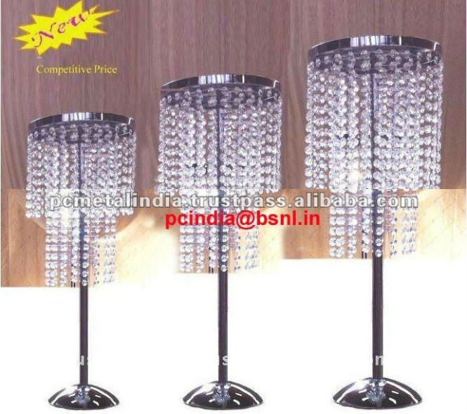 Hanging Crystals Table Wedding Centerpieces Top Chandelier For Weddings