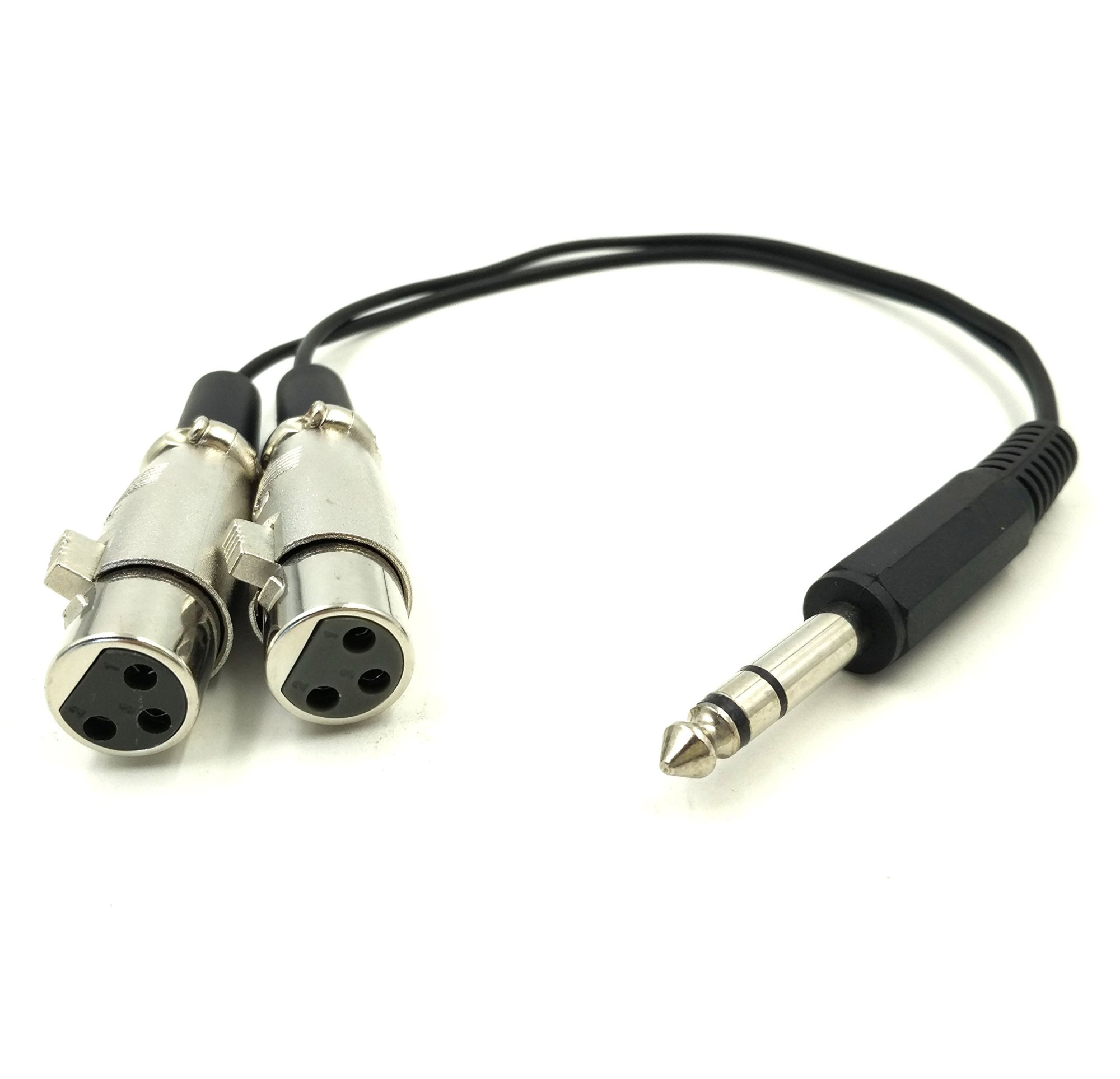 hight resolution of get quotations exuun 1 4 inch to xlr audio y splitter converter cable 1ft 30cm