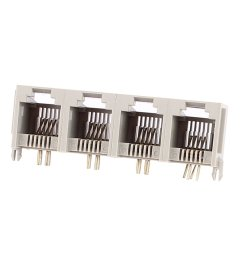 get quotations uxcell 4 ports rj11 6p4c 4 pins side entry modular pcb telephone jack connector [ 1100 x 1100 Pixel ]