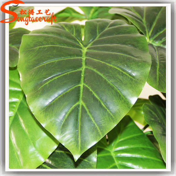 artificial big green leaves