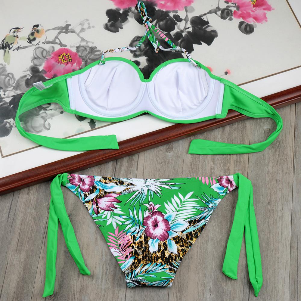 HTB16tg f8DH8KJjSspnq6zNAVXaF Bikini Solid Strappy Bandage Bikinis Set White Push Up Bikini Swimwear Bandeau Brazilian Swimsuit Bathing Suit Maillot De Bain
