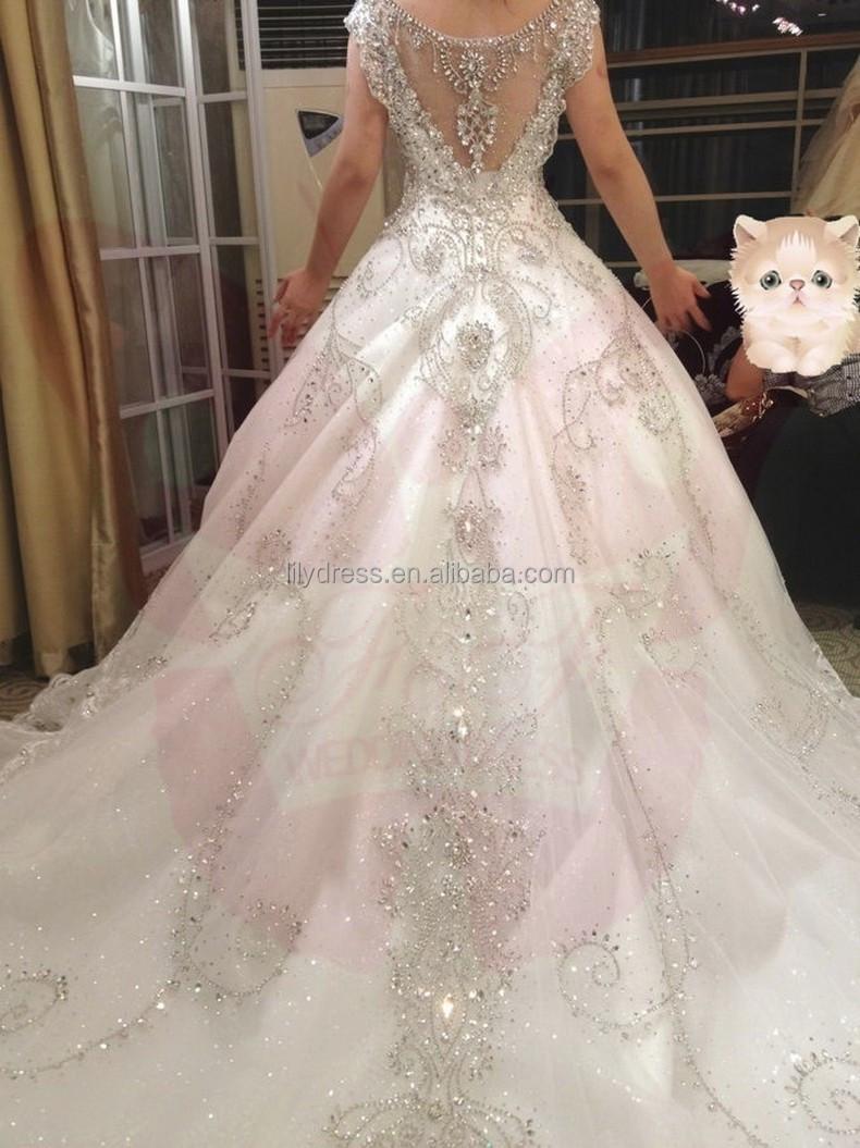 Bling Bling Bw001 White Vneck Crystal Shine Bridal Gown