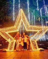 christmas outdoor arches light star decoration decorations shopping center arch lights led square park