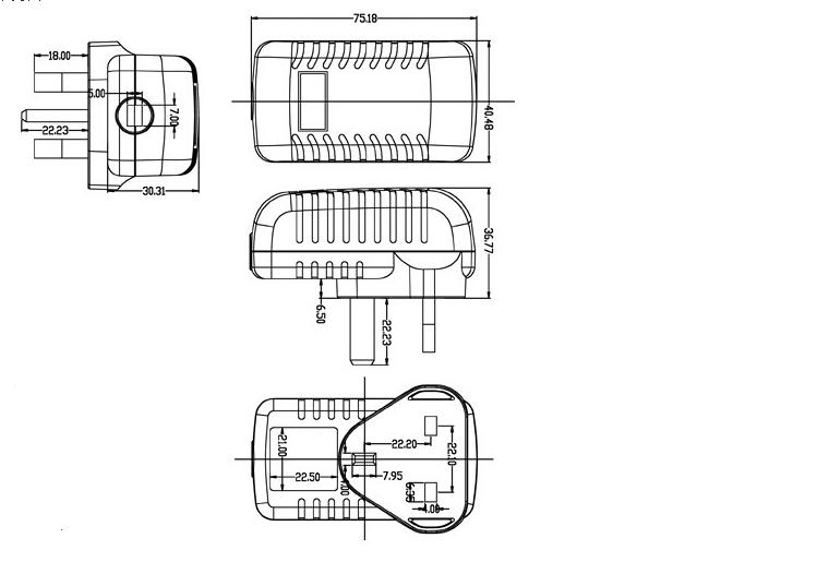 Coc V5 Doe Vi Power Adapter Input 100 240v Ac 50/60hz 5v