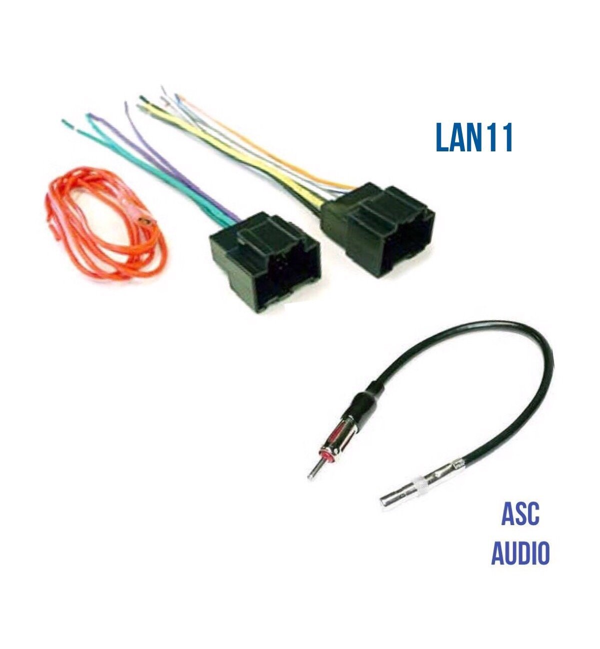 hight resolution of get quotations asc audio car stereo radio wire harness plug and antenna adapter for some