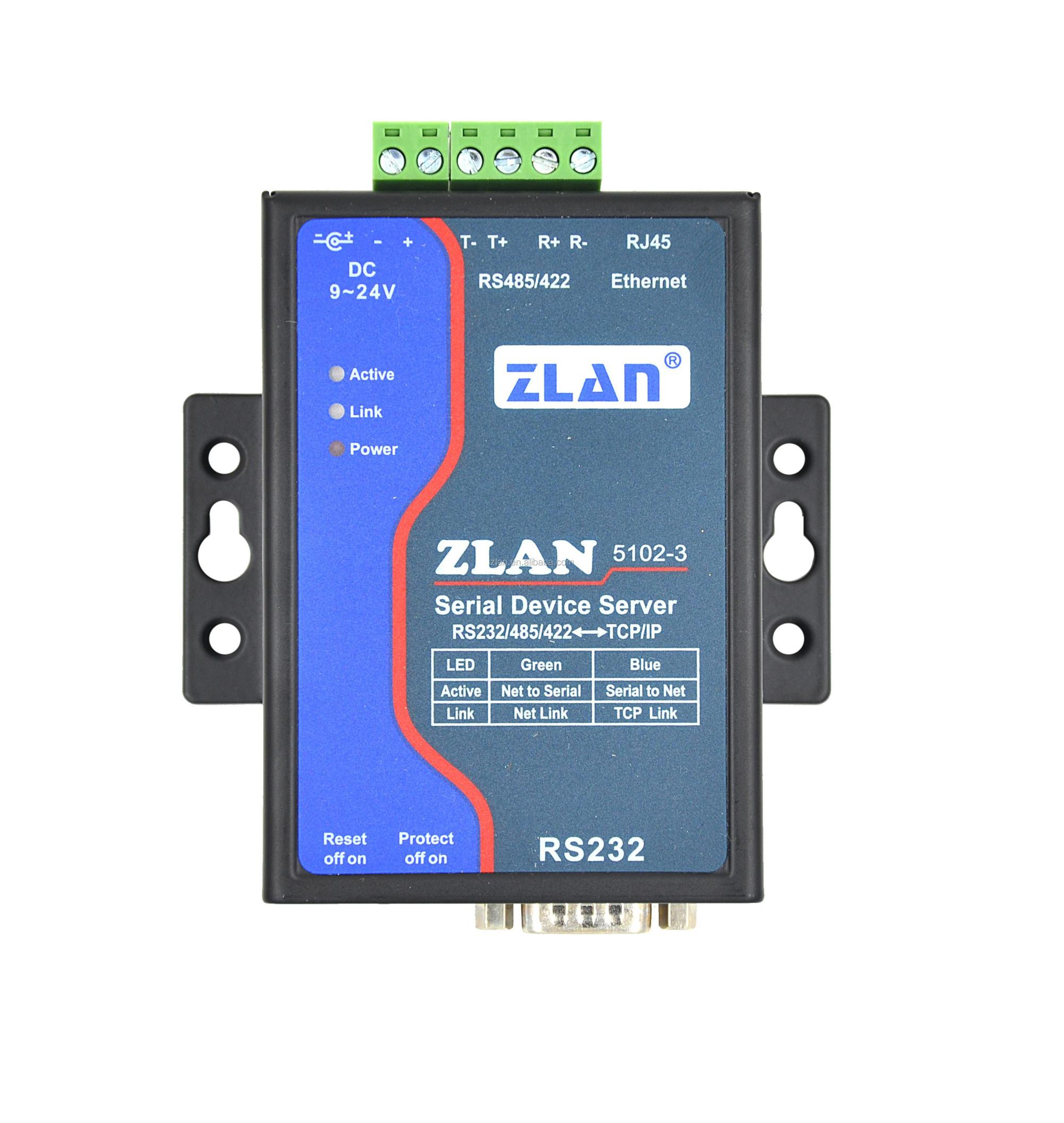 hight resolution of zlan5102 3 rs232 rs485 rs422 to tcp ip lan 2 wire ethernet converter industrial