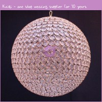 K7925 Glass Material Round Crystal Ball Chandelier - Buy ...