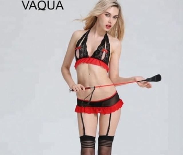 Women Open Breast Show Nipples Hot Erotic Lingerie Sexy Bra Mini Skirt Set