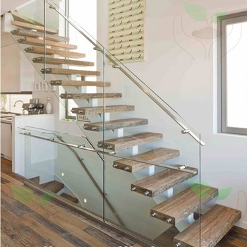 Single Spine Stringer Stairs With 12Mm Frameless Glazed | Steel Stair Stringer Design | Exterior | Free Standing | Indoor | Modern | Staircase Bar Length