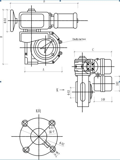 B+rs800f105z Motorized Rotary Damper Actuator With High
