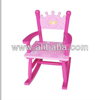 kids wood rocking chair white resin folding chairs wooden