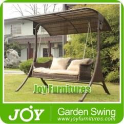 Outdoor Wicker Swing Chair Yoga Video Rattan 3 Seater Garden