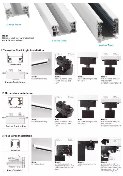 small resolution of 4 wire 3 phase track light 20w led clothing track light honeycomb track light