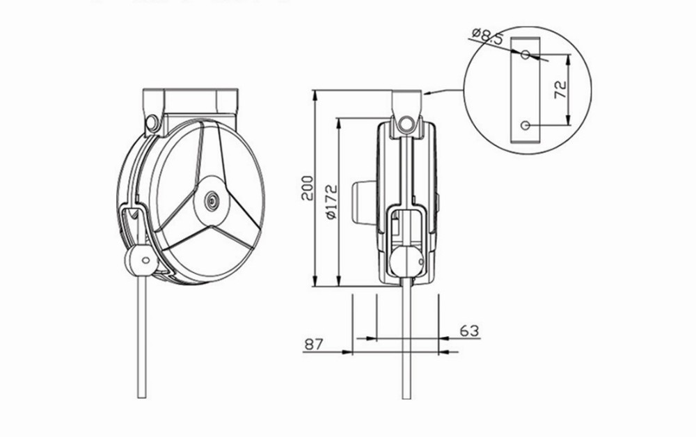 We0756 Extension Spring Loaded Cable Reel Retractable