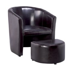 Tub Accent Chair Inflatable For Adults Home Furniture Recliner Living Room Chairs Leather Cover Wooden Frame