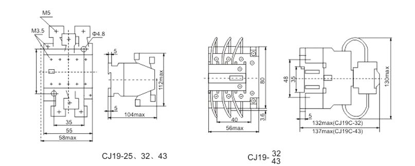 CJ19--32A Capacitor Contactor, View Capacitor Contactor