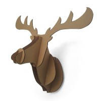 3d Paper Deer Head Wall Decoration Cardboard Animal Head ...