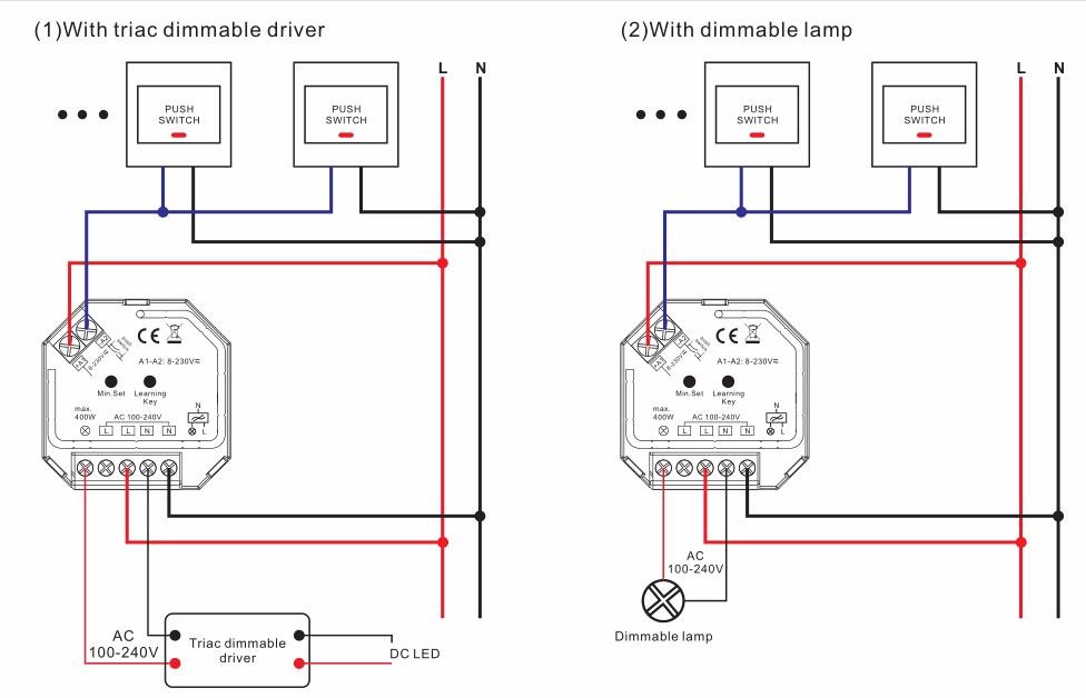 push dim wiring diagram for a pioneer stereo sunricher ac 400w rf triac dimmer, view product details ...
