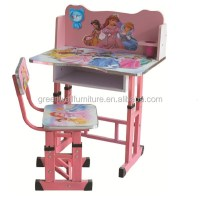 Cheap Wooden Kids Study Table And Chair Set For