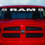Buy 40 Dodge Ram Hemi Windshield Logo 1500 2500 3500 Vinyl Decal Sticker Vinyl Gift Gray In Cheap Price On Alibaba Com
