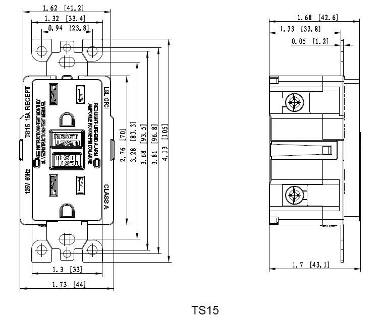 Factory Wholesale 1 Single 15a Duplex Gfci Outlet Ul