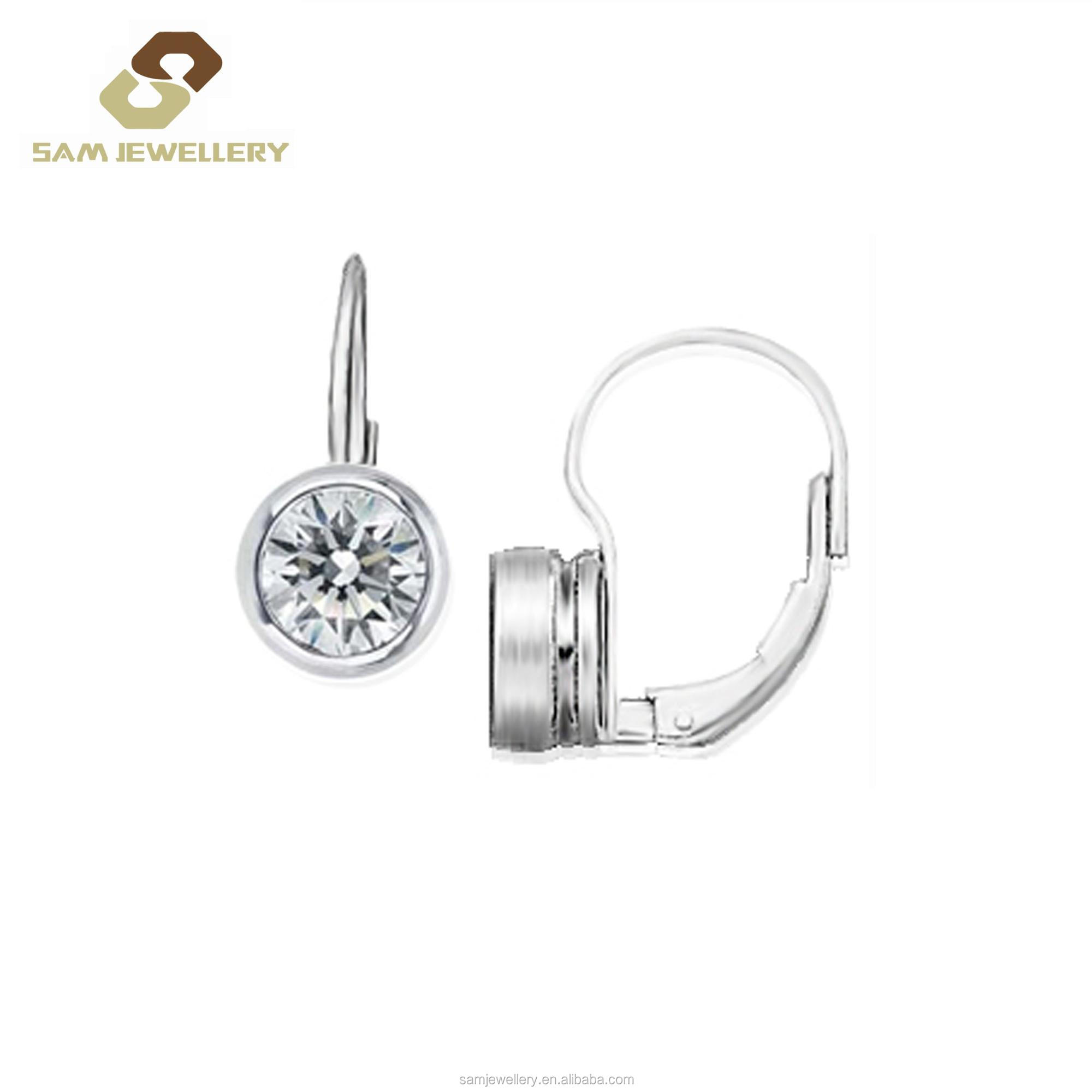 Minimal Gift Sterling 92 Silver Halo Blue Topaz Snowflakes