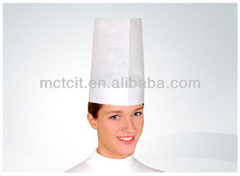 kitchen hats green decor food service disposable hat waiter paper chef cap for resteraunt