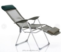 ajustable aluminum lounge folding chair with footrest sun ...
