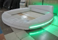 Bedroom Furniture Round Bed With Led - Buy Round Bed With ...