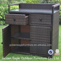 Pe Rattan & Aluminum Made Outdoor Storage Cabinet - Buy ...