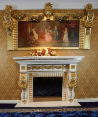 Luxury French Louis Xv Marble Fireplace With 24k Gold ...