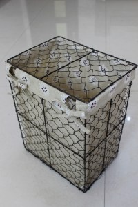 Handmade Wire Storage Basket With Cover Wire Laundry ...