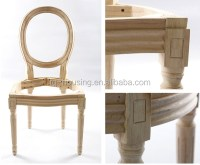 Wholesale Rental Elegant Banquet Chair Unfinished Wooden ...
