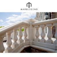 Villa Marble Stone Porch Balcony Railing Designs