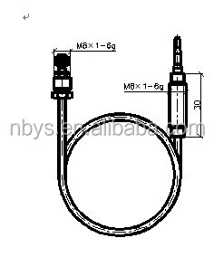 YT-K-09 thermocouple used in gas heater,gas fireplace