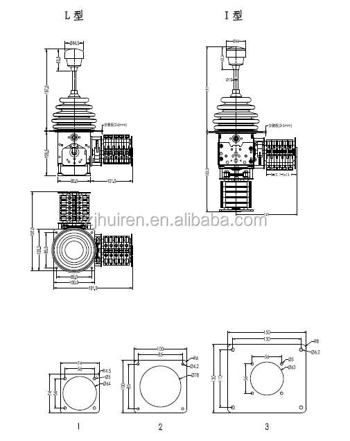 Yj300 Potentiometer Joystick Hand Control Lever Gessmann