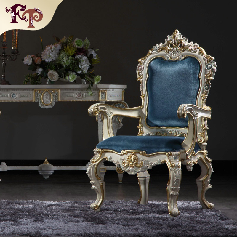 Italian Wooden Furniture Armchair Classic Royal Dining