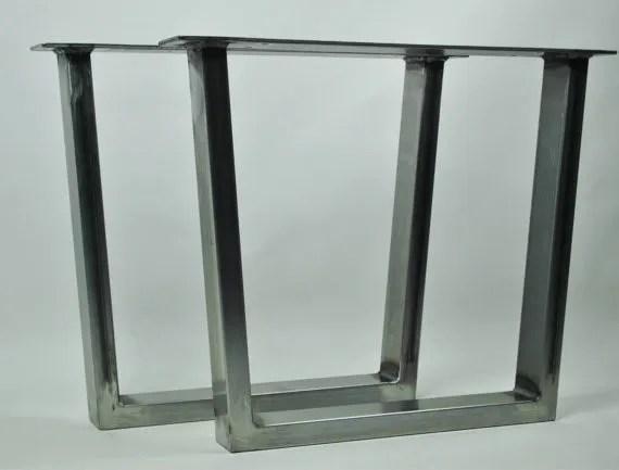 pied de table trapezoidale pied de meuble industriel en metal revetu de poudre noir mat 2 unites buy pieds de table en metal trapezoidal pieds de