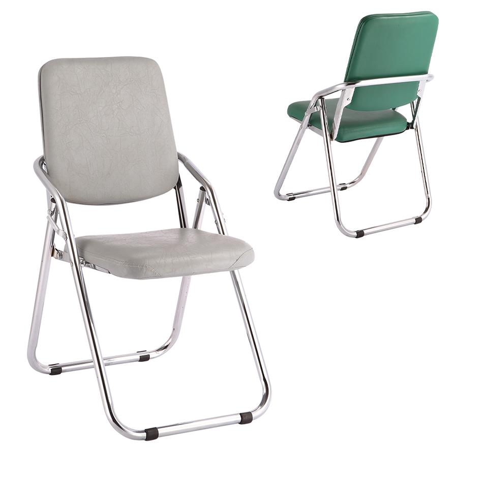 ergonomic folding chair wayfair heavy duty kitchen chairs grey pu metal frame office description buy