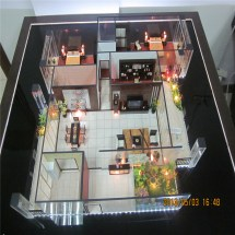 Internal Layout Scale House Model With Furniture And Lamps