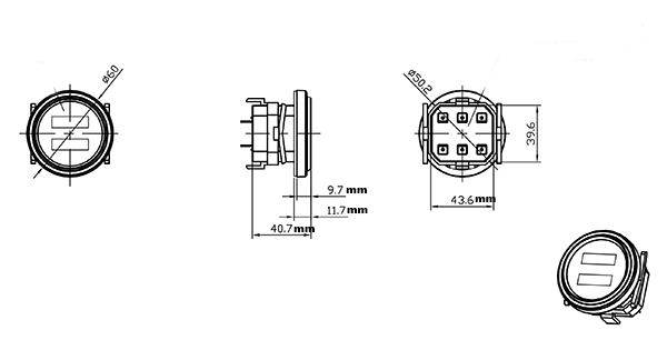 12v 24v 36v 48v 72v Vdc Volt Battery Indicator Gauge