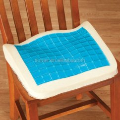Gel Cushion For Chair Grey Fabric Chairs Car Seat Cooling Pad Memory Foam Coccyx