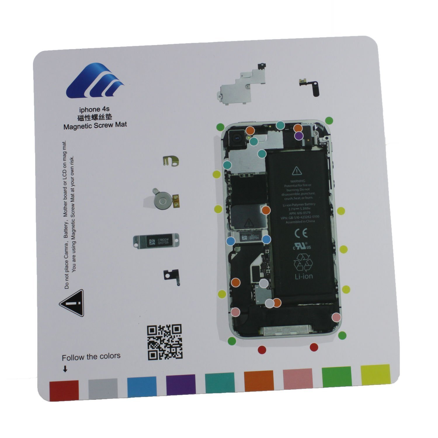 iphone 4 screw layout diagram mercedes w124 e220 wiring cheap thread chart find deals on line at get quotations magnetic project mat for 7 7plus 6 6s plus 5s 5c