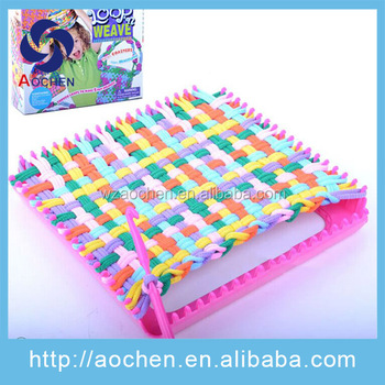 Diy Craft Kit Weaving Loom Bag Knitting Kit For Girls Buy Diy Knit Set Kids Plastic Supermarket Toy Set Gift Set Packaging Product On Alibaba Com
