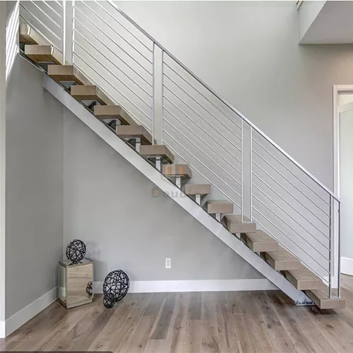 Modern Wood Steps Stainless Steel Stairs Grill Design Buy | Stainless Steel For Stairs | Contemporary | Modern | Outdoor | Home | Balustrade