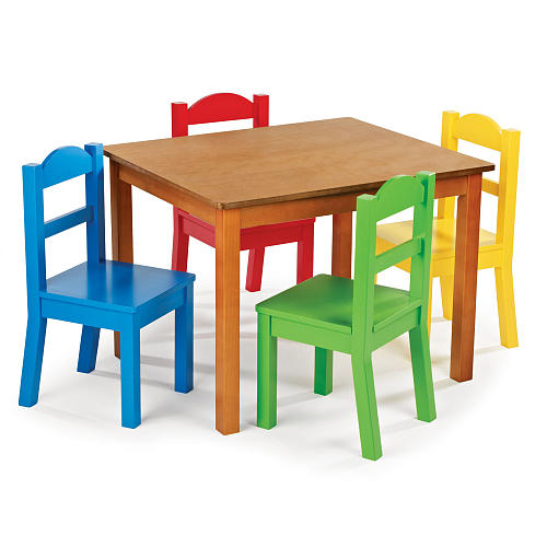 Playing Learning Eating Kid Table And Chairs Pretty Colorful Wood Childrens Set Color Kids