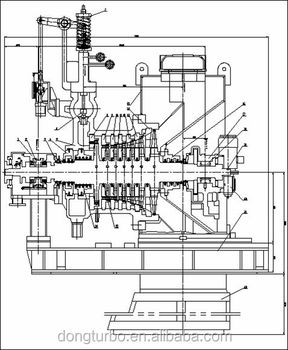Dongturbo 500kw-50000kw Generator Steam Turbine For