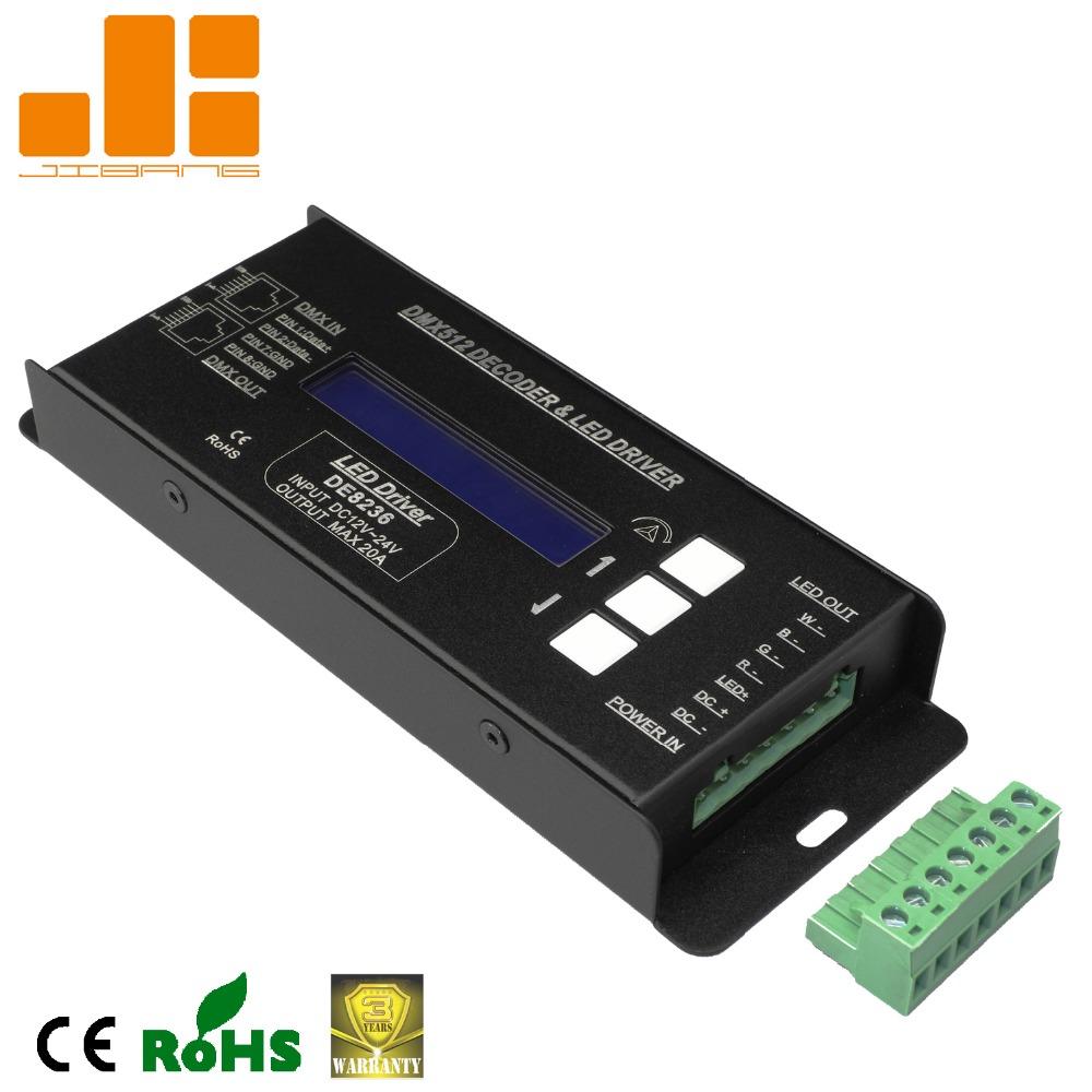 hight resolution of rgbw dmx decoder led driver de8236